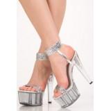 5501 Туфли серебристые
