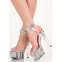 Туфли серебристые 5501
